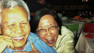 Sombath Somphone and his wife Shui-meng Ng