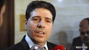 Syrian Prime Minister Wael al-Halqi
