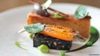 Slow cooked pig belly with black pudding