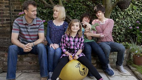 The Brockman family from Outnumbered