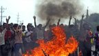 Protesters in Dhaka, Bangladesh (27 April 2013)