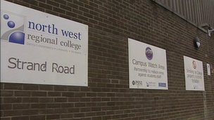 North West college sign