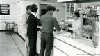 Workers in the Big Pit canteen, photograph taken in 1976