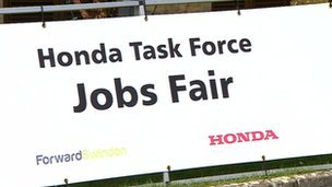 Honda jobs fair sign
