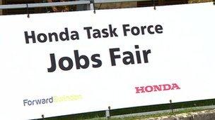 Honda jobs fair sign
