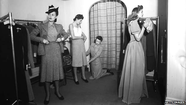 Army and Navy stores changing rooms in 1940