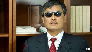 Chinese activist Chen Guangcheng
