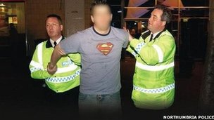 A man being arrested