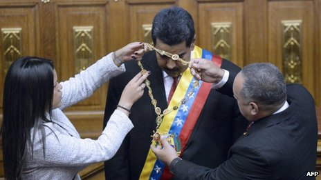 Nicolas Maduro on 19 April 2013