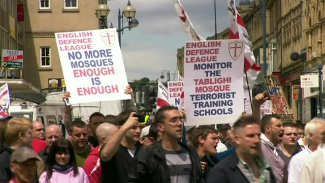 The EDL rally the men intended to bomb