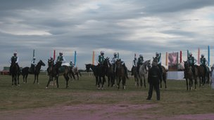 Racing horses in Turkmenistan