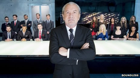 Alan Sugar and the 16 candidates for series nine