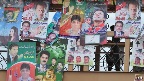 Election posters in Rawalpindi