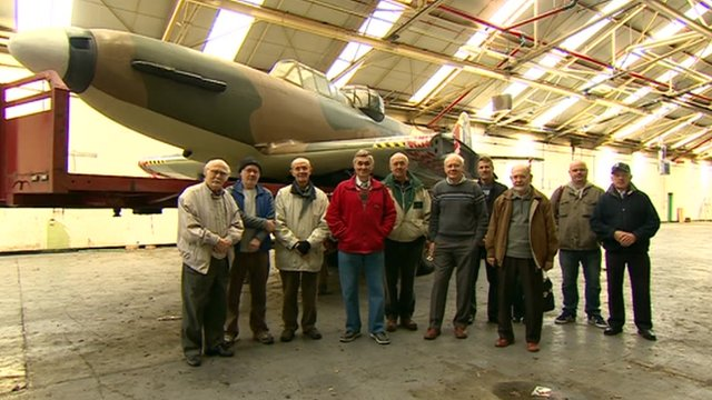 Replica Defiant fighter and the volunteers who built it