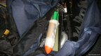 Homemade bomb in bag in Laguna
