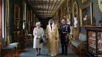 The Queen, Prince Phillip and  Sheikh Khalifa bin Zayed Al Nahyan in Windsor Castle on 30 April 2013