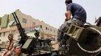 Libyan gunmen surround the Libyan Justice Ministry - 30 April 2013