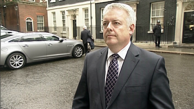 Carwyn Jones outside 10 Downing Street