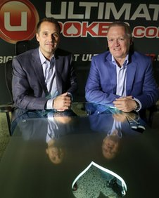 Ultimate Gaming chairman Tom Breitling, left, and CEO Tobin Prior