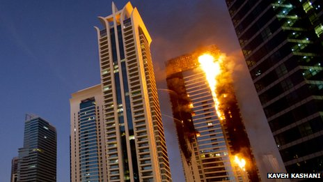BBC News - Towering inferno fears for Gulfs high-rise blocks