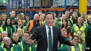 David Cameron campaigning last month