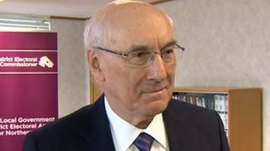 District electoral commissioner Dick Mackenzie