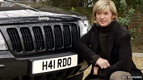 Celebrity hairdresser Nicky Clarke with a registration plate reading H41 RDO in 2006