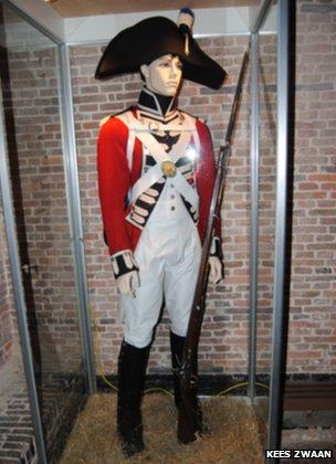 Mannequin in Coldstream Guards costume