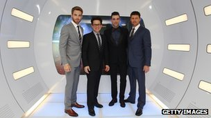 JJ Abrams with members of the Star Trek cast