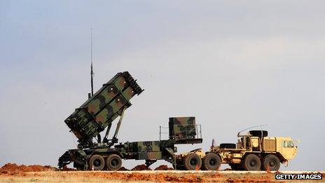 A Patriot missile launcher system is pictured at a Turkish military base in Gaziantep on February 5, 2013. The United States, Germany and the Netherlands committed to send two missile batteries each and up to 400 soldiers to operate them after Ankara asked for help to bolster its air defences against possible missile attack from Syria