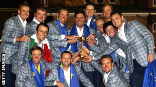 Europe's victorious 2012 Ryder Cup team
