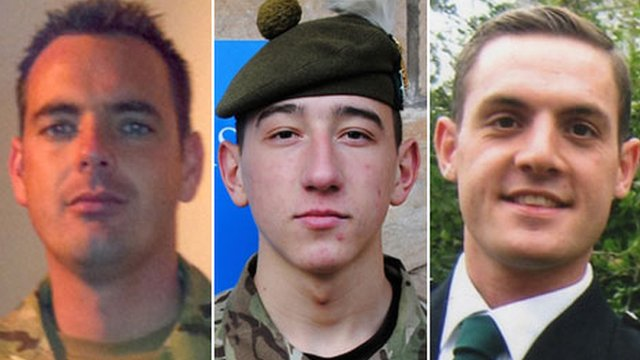 Cpl William Savage, Fusilier Samuel Flint and Pte Robert Hetherington