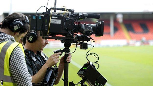 TV cameras at Tannadice