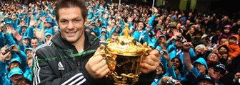 Richie McCaw with the World Cup