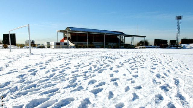 Snow at Albion Rovers
