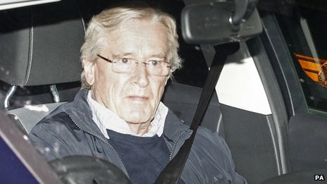William Roache returning home
