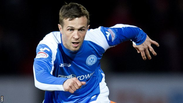St Johnstone midfielder Chris Millar