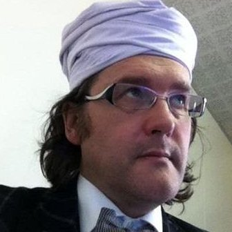 An image of Tim Luckcock wearing a turban that appeared on Facebook.