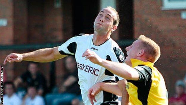 Robbie Matthews in action for Salisbury City