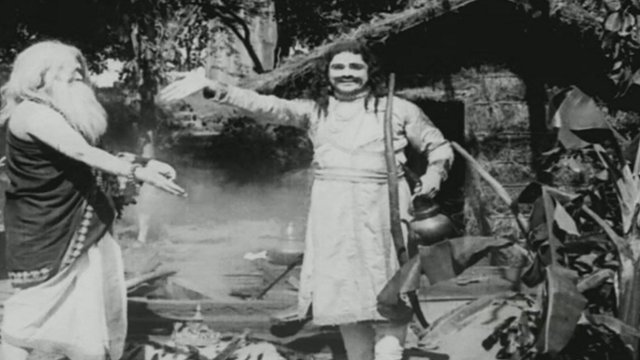 A scene from Raja Harishchandra - India's first silent film