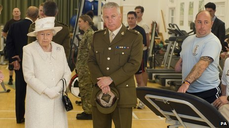 The Queen at Headley Court military rehabilitation centre