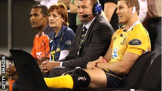 Pocock injured his knee playing for the Brumbies in March