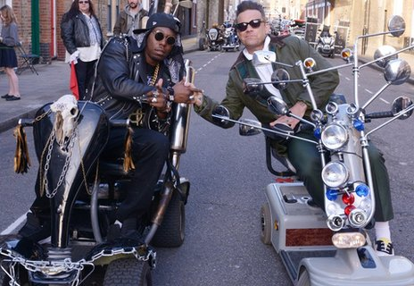 Dizzee Rascal and Robbie Williams
