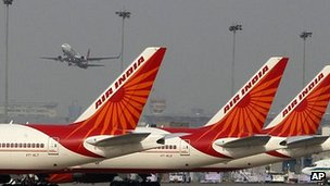 File photo of Air India planes parked