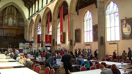The Norfolk count taking place in St Andrew's Hall