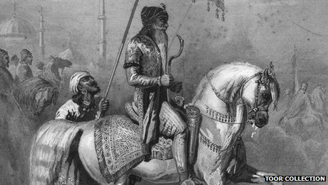 The Lion of Punjab, Maharaja Ranjit Singh, riding a stallion