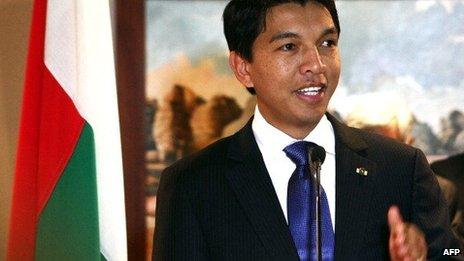 Madagascar's President Andry Rajoelina