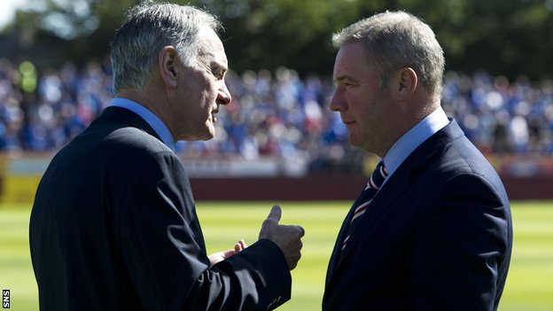 Charles Green and Rangers manager Ally McCoist (right)
