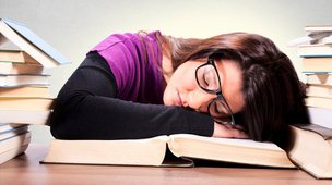 Falling asleep while studying