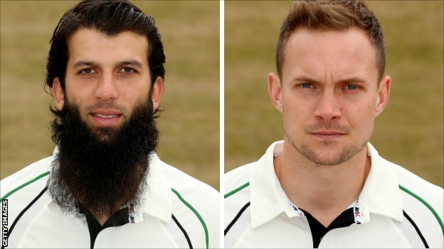 Moeen Ali and Gareth Andrew